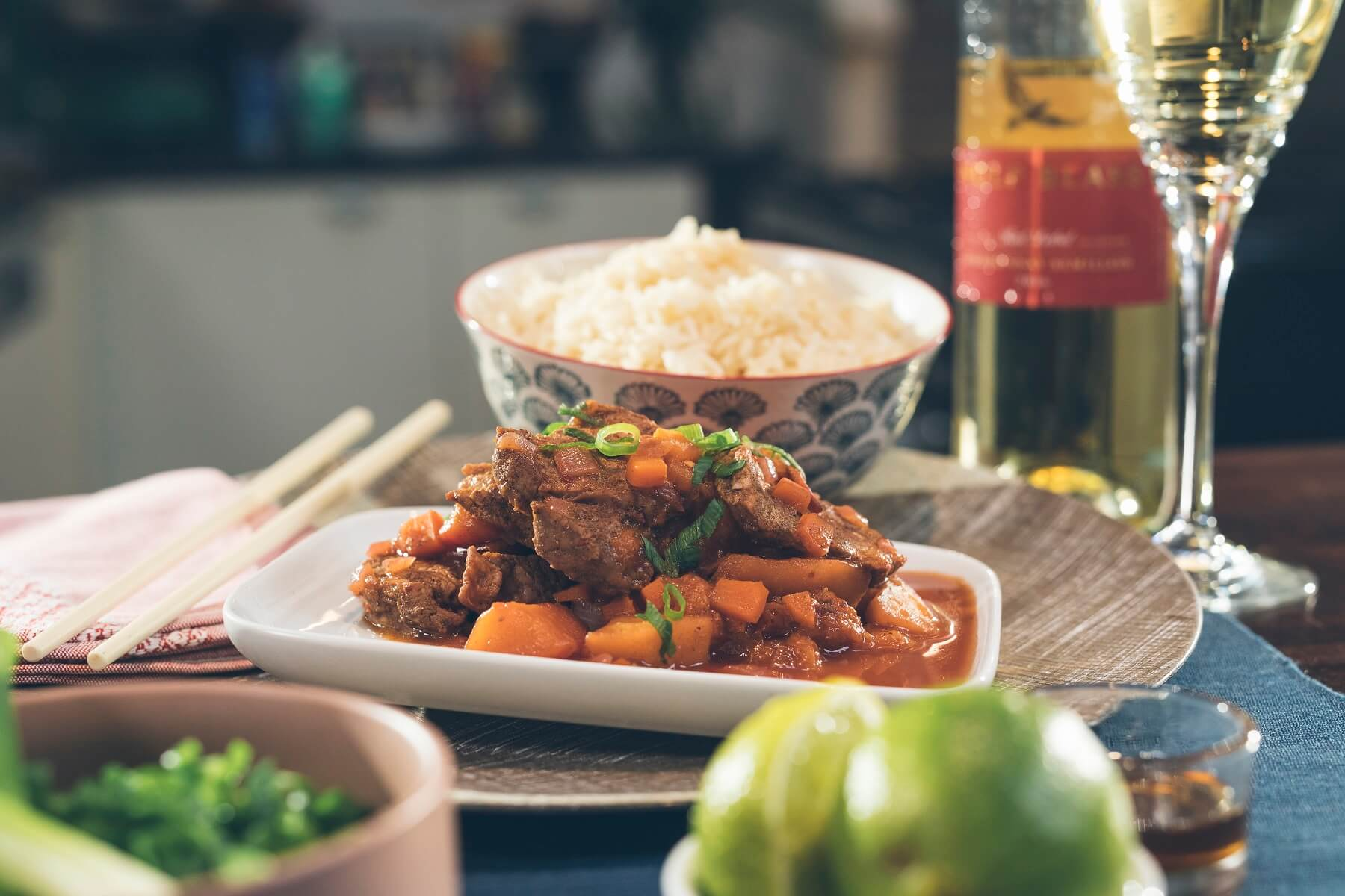 Sweet and Sour Pork on a bed of veg and rice