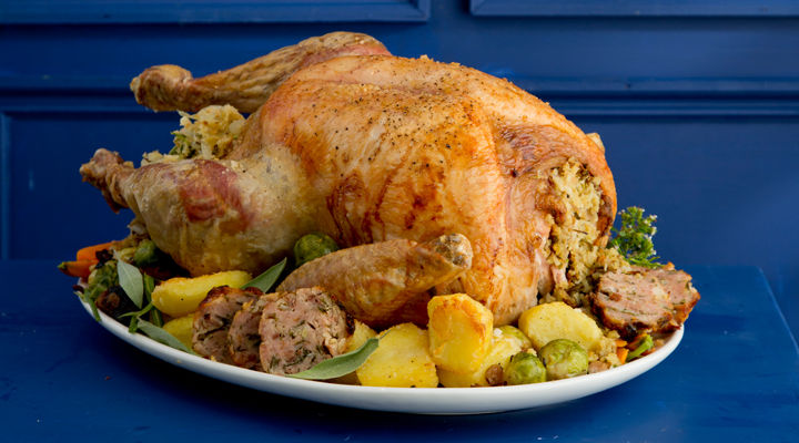Turkey with moroccan stuffing